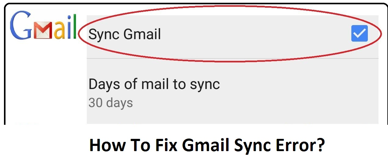gmail sync error